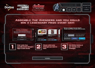 Doritos Assemble the Avengers website screen 2