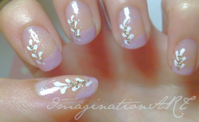 nail_art_french_colorata_perline_semplice_simple