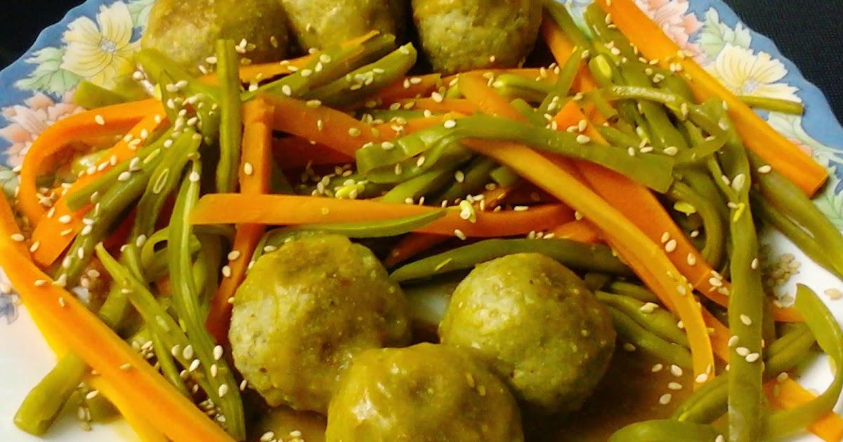 Mis recetas antic ncer alb ndigas con salsa de miso y - Guarnicion para albondigas ...