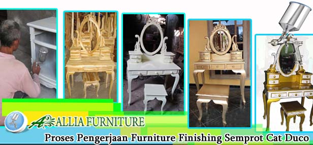 Proses Finishing Furniture Semprot Cat Duco