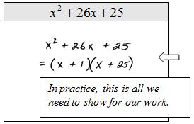 OpenAlgebra.com: Factoring Trinomials of the Form x^2 + bx + c
