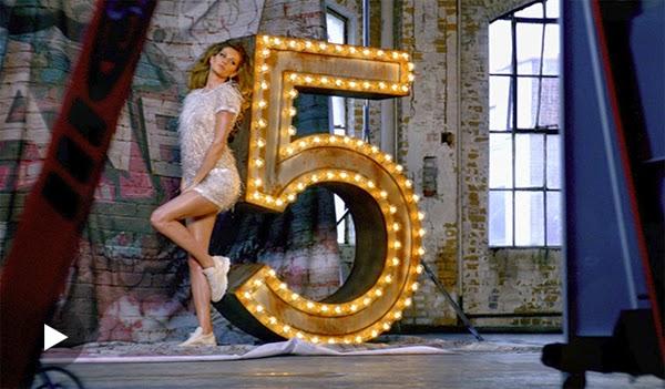 Fragrância Chanel Nº 5 Gisele Bündchen