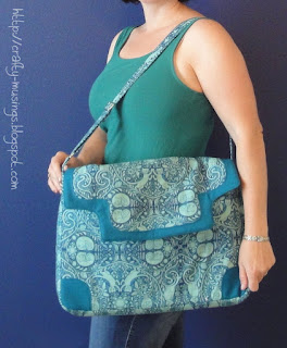 wearing the Lilium Laptop Bag