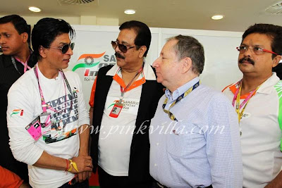 Sexy Showing Sachin Tendulkar and Shahrukh Khan at inaugural Indian Grand Prix Sexy