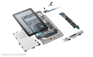 Samsung Galaxy Tab 7.7-Inch Tablet Different Parts