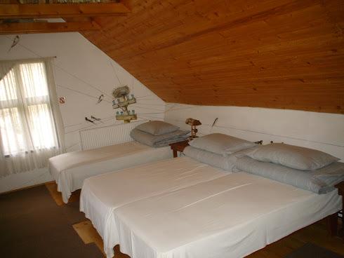 Dormitorul Cu rândunici (pictate pe pereți)