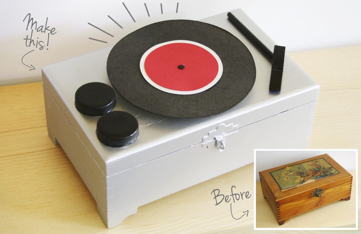 Diy Jewelry Box Part - 48: DIY: Record Player Jewelry Box