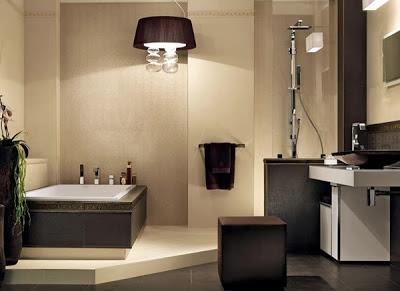decoracion baño pintura y madera
