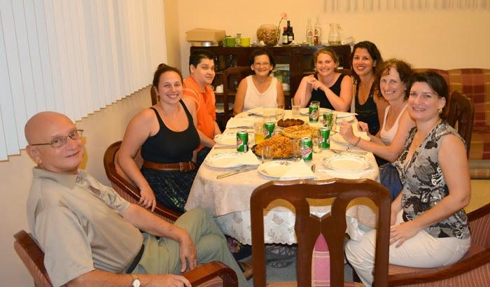 Con amigos en la Casa Castellon