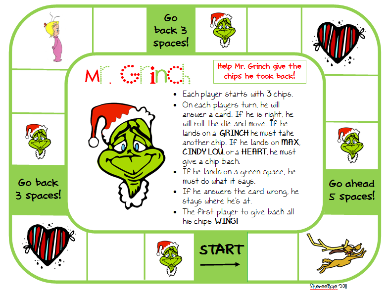 How The Grinch Stole Christmas Printable Activities Search Results