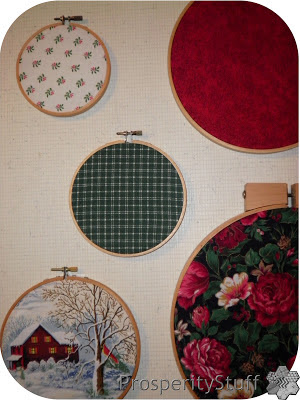 "ProsperityStuff Fabric in Embroidery Hoop ""Frames"""