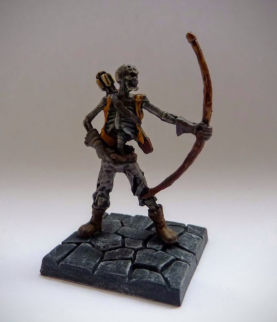 Dungeon Saga: Dwarf King's Quest painted evil dead: skeleton archer.