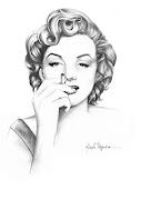 Desenho feito com 7B TOISON D'OR (marilyn monroe)