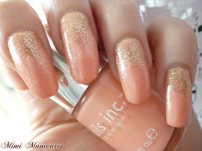 nails inc wellington square coral peach L'oreal gold lurex