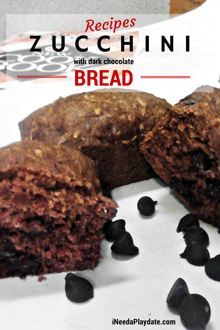 Zucchini Bread with Dark Chocolate Chips | @MryJhnsn