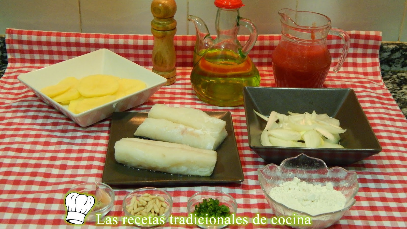 Receta de bacalao en salsa al horno