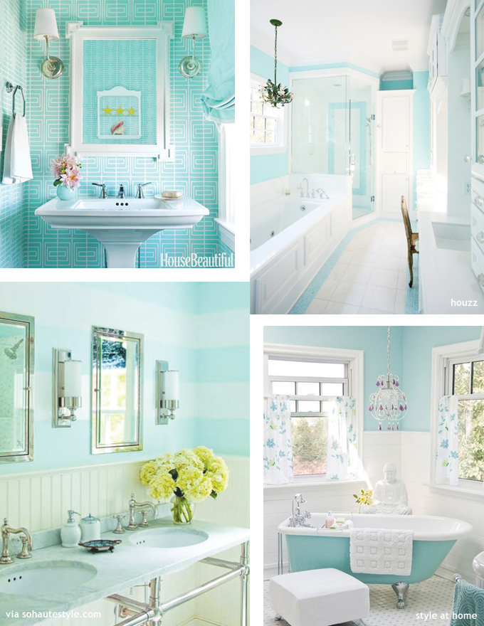 10 rooms crushing on colour lisa from lisa roy for Bathroom ideas aqua