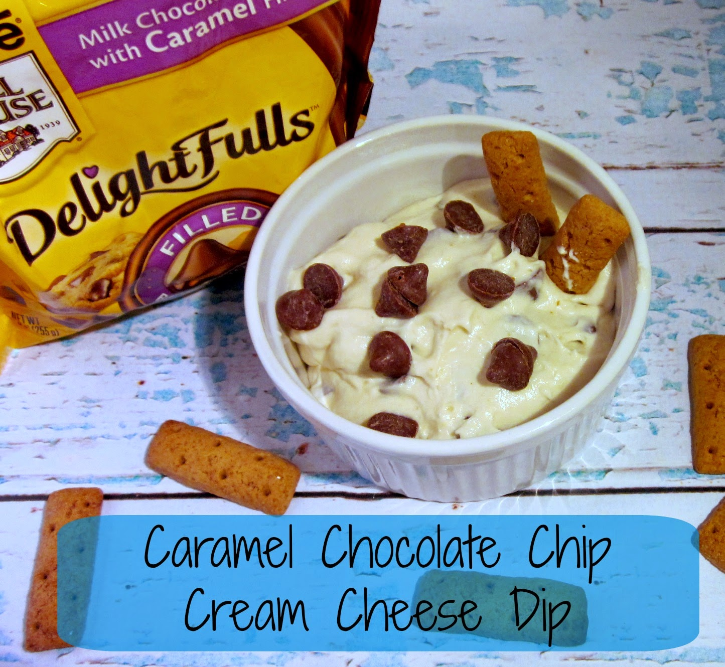 Cream Cheese Chocolate Chip Dip, Nestle DelightFulls recipes, Nestle Toll House DelightFulls, Nestle Toll House Holiday Recipes, Toll House Filled Morsels, Filled chocolate chip recipes