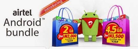 Subscription codes for the Airtel Android Bundle- 2GB for 2000 naira