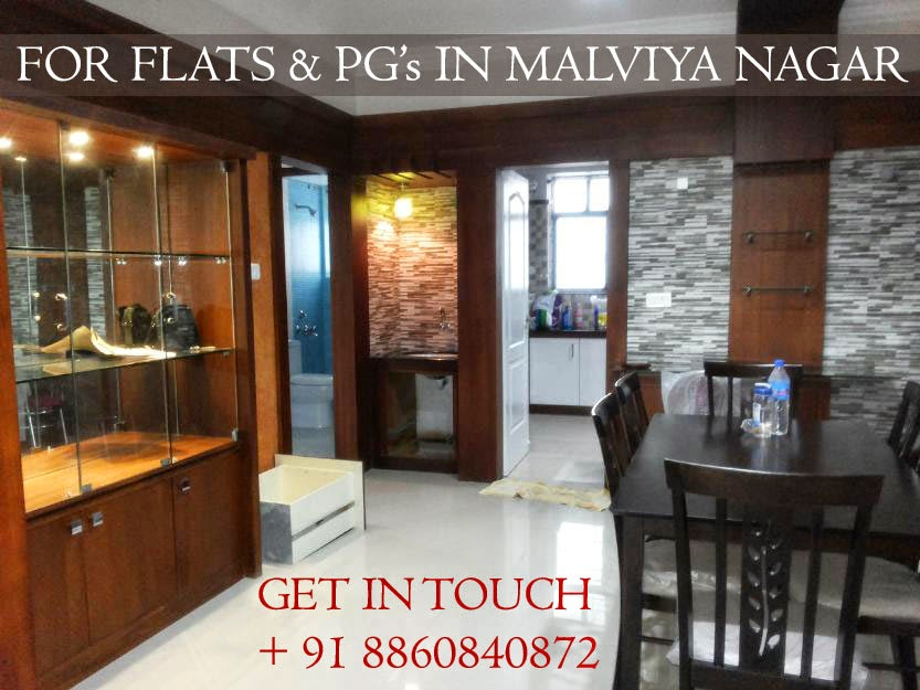 flats for rent in malviya nagar