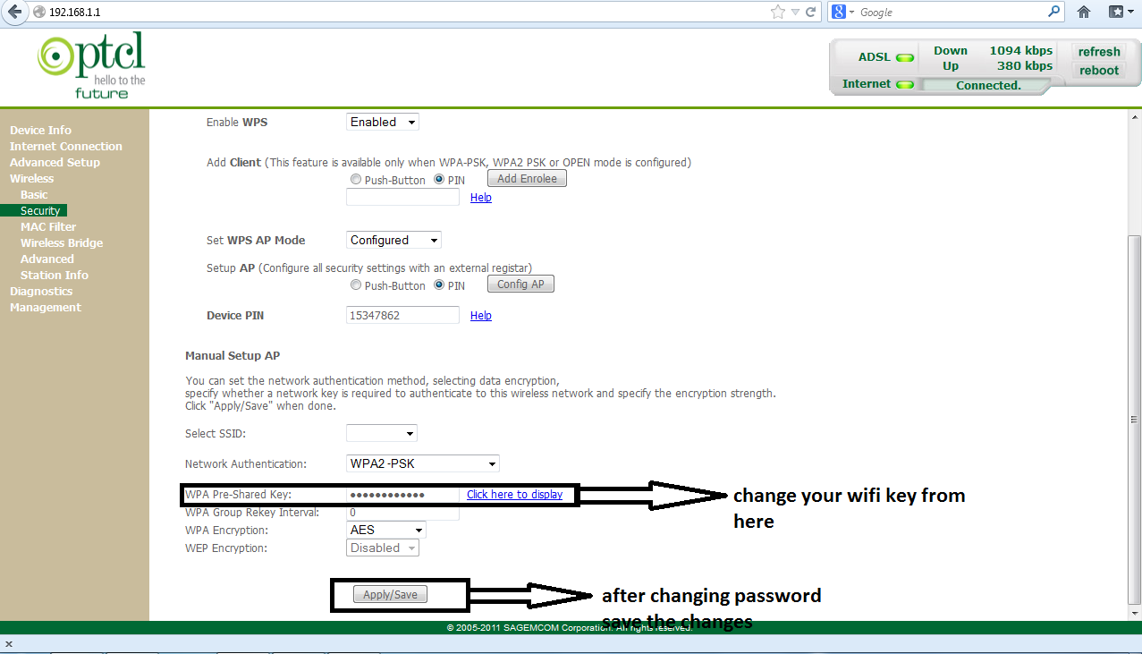 how to change your wifi router password tpg