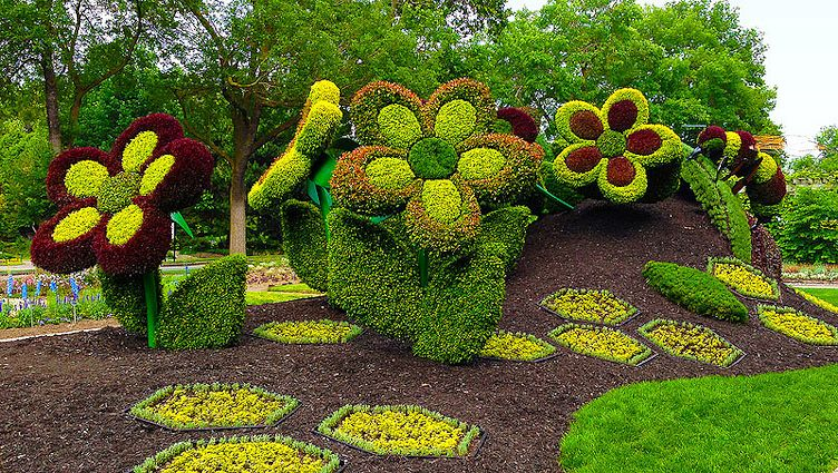 My virtual garden mosaiculture exhibition for Elementos de jardineria