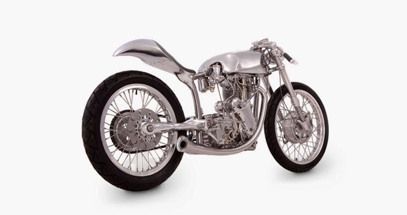 Falcon Motorcycles | The White Cafe Racer | Velocette Thruxton 1967 engine | 1967 Velocette Thruxton Cafe Racer | Cafe Racer | Ian Barry | way2speed.com