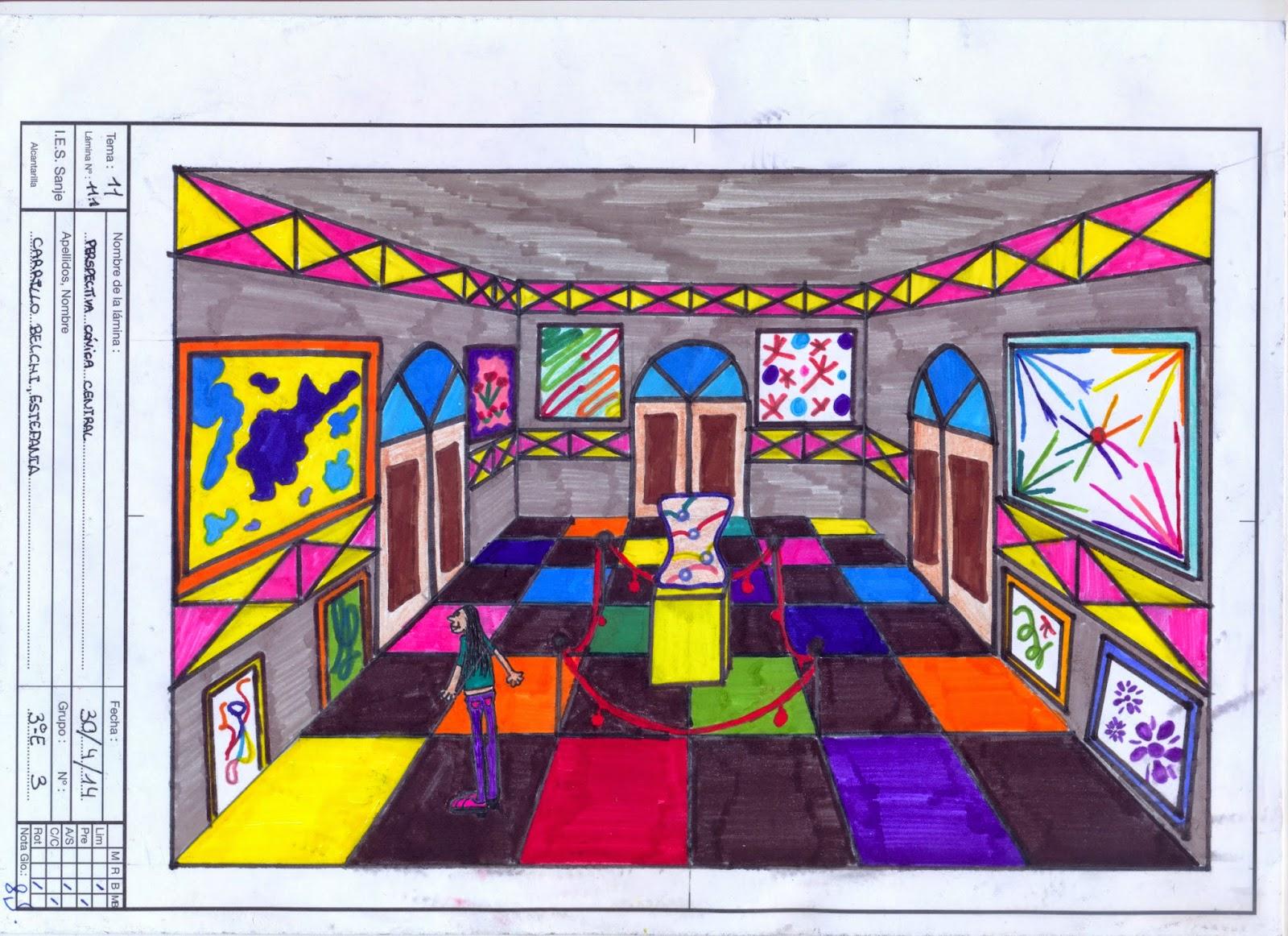 Dibuja garlo perspectiva c nica central de una habitaci n - Habitacion en perspectiva conica ...