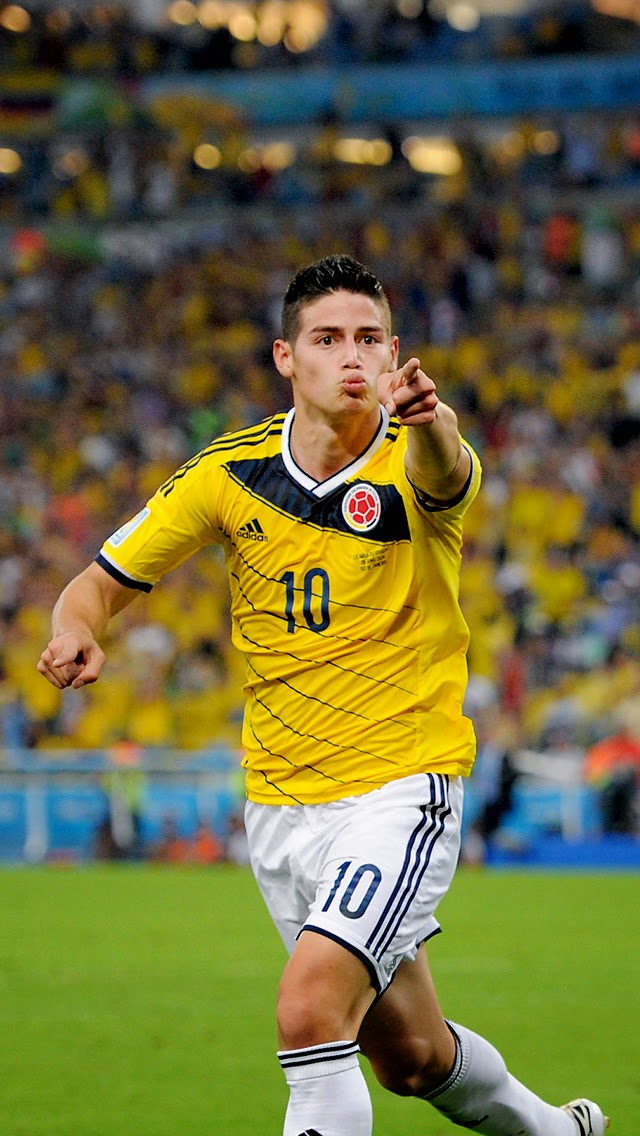 James Rodriguez Colombia Football Legends Iphone Wallpapers