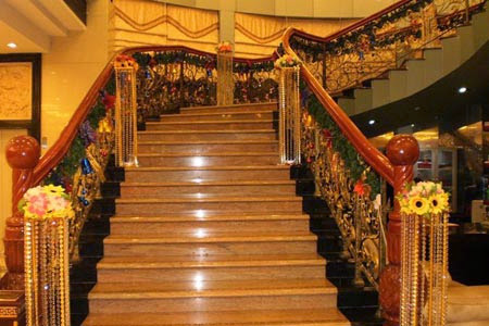 The stairs of Golden Bay Restaurant