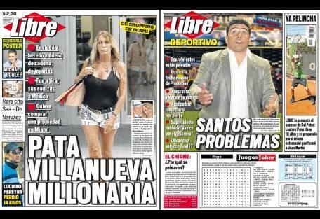Tapa diario libre pata villanueva report show el for Diario el show del espectaculo
