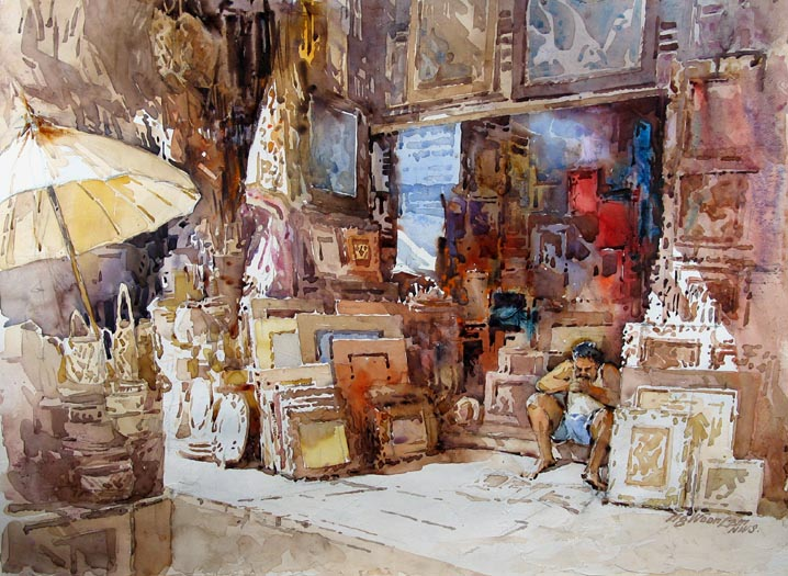 Beautiful Watercolor Paintings By Ng Woon Lam Fine Art