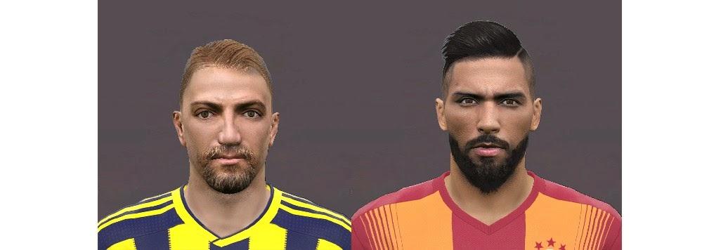 PES 2015 Caner Erkin & Yasin Öztekin Face by Sekiz