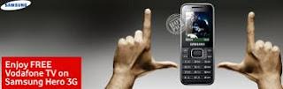 Samsung Hero 3G Vodafone Free TV Offer