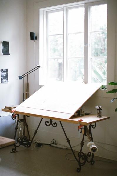 Neue Tischplatte, altes Eisengestell - Möbel zum Selbermachen