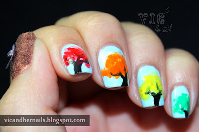 Vic And Her Nails October N A I L Theme 2 Autumn Trees