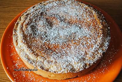 Crostata di ricotta torta dolce farcita a base di pasta frolla