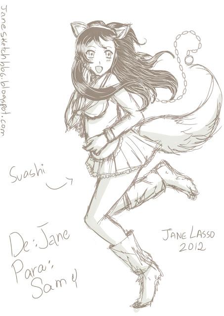 Dibujo manga creado con Illust Studio.