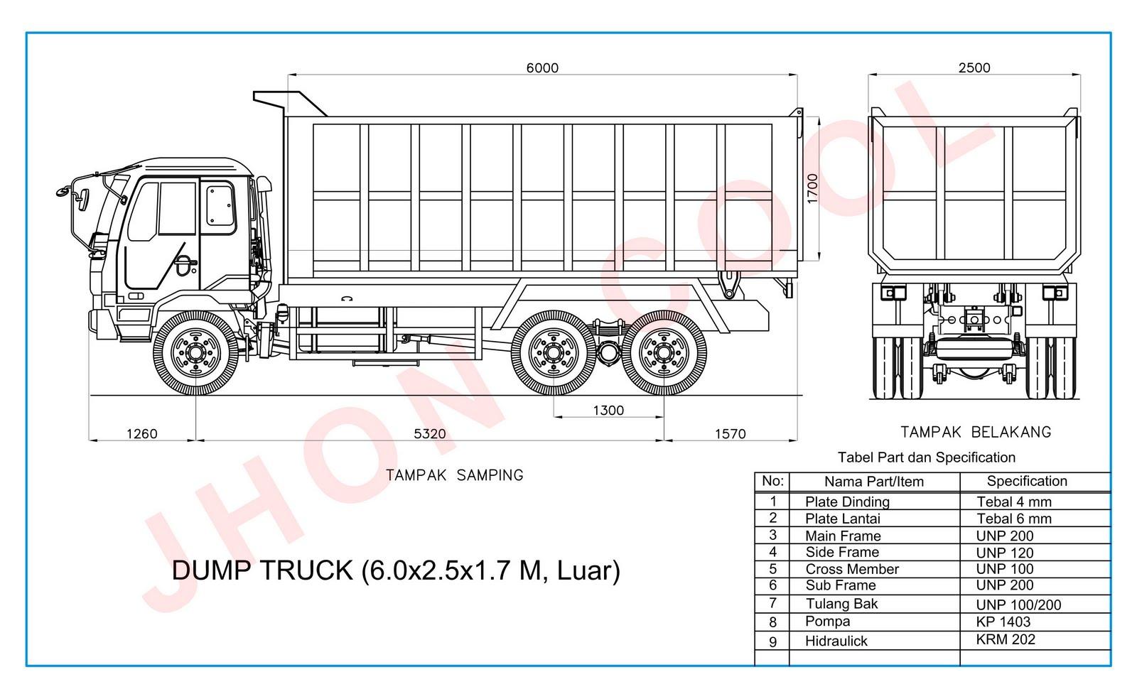 Maygunrifanto Ukuran Dump Truck