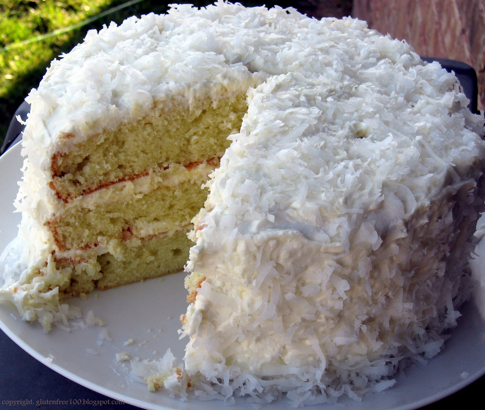 ... Gluten Free: 3 Layer Coconut Cake with Lemon Cream Cheese Icing Recipe