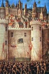 Castillo sititado por tropas cruzadas