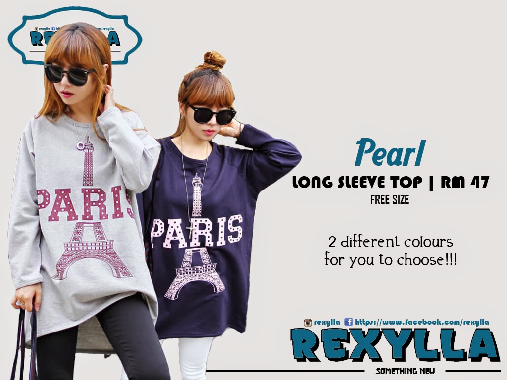 rexylla, blouse, long sleeve, pearl collection