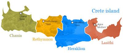 Map of Crete Province Area