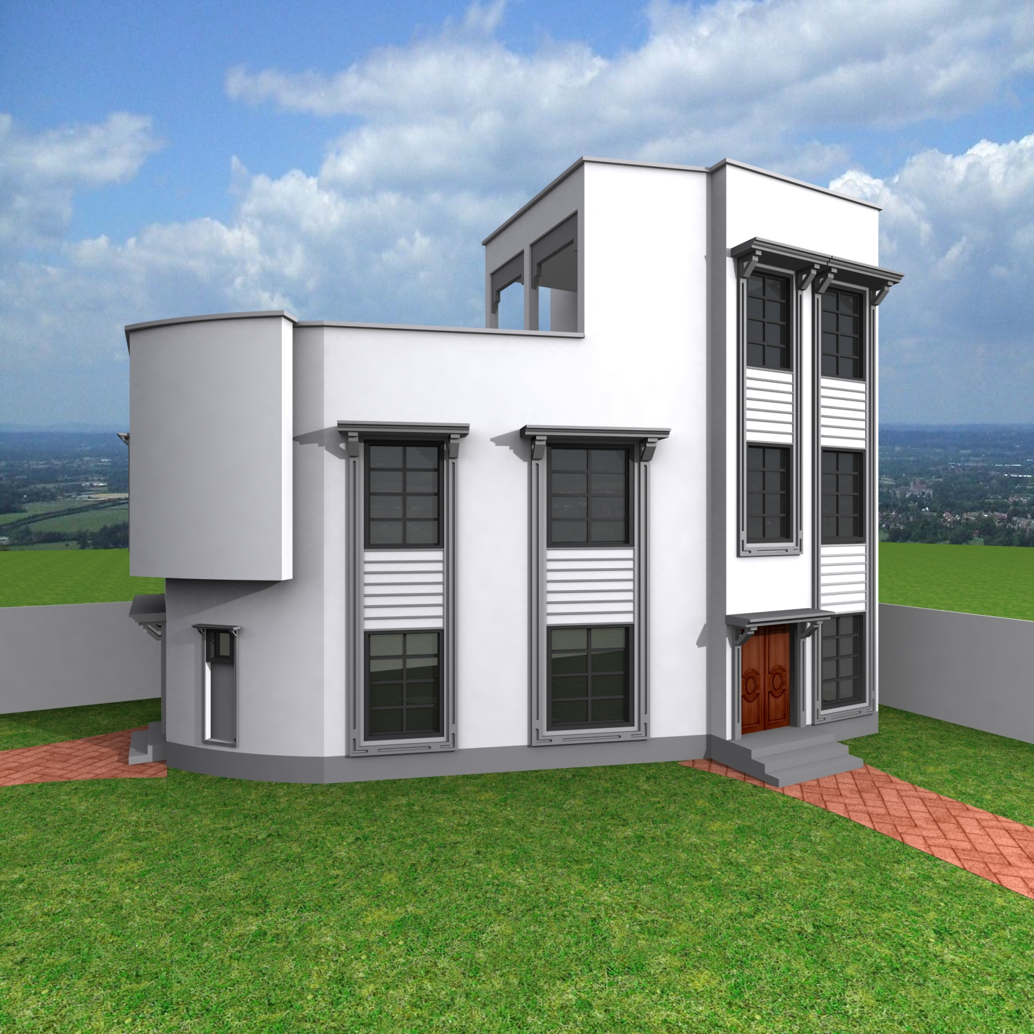 10 Marla 3D Elevation House Front
