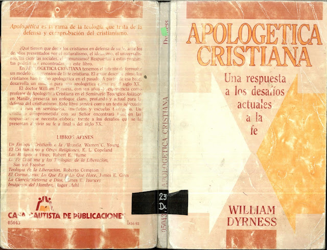 Williams+Dyrness Apolog%C3%A9tica+Cristiana  William Dyrness   Apologética Cristiana