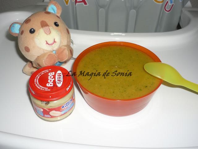 La magia de sonia crema ligera de calabac n calabaza y puerro beb s - Cenas para bebes de 15 meses ...
