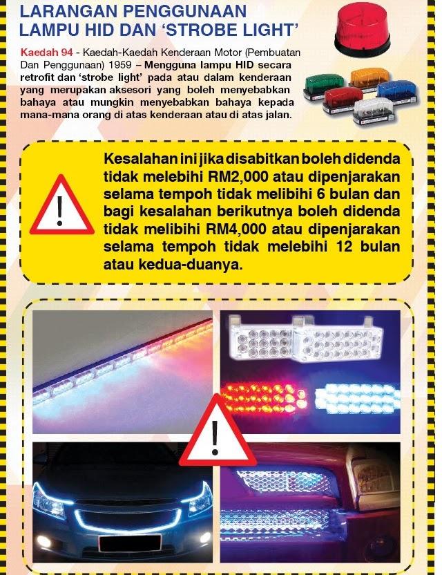 Peraturan Baru Cermin Gelap, No Pendaftaran & Strobe Light