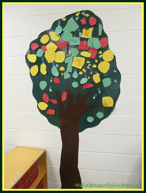 Tree in Preschool Classroom via RainbowsWithinReach