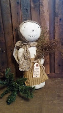 PRIMITIVE PRAIRIE SNOW DOLL