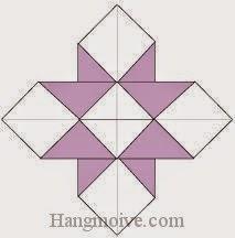 Bước 7: Hoàn thànhc cách xếp cánh hoa bằng giấy origami.